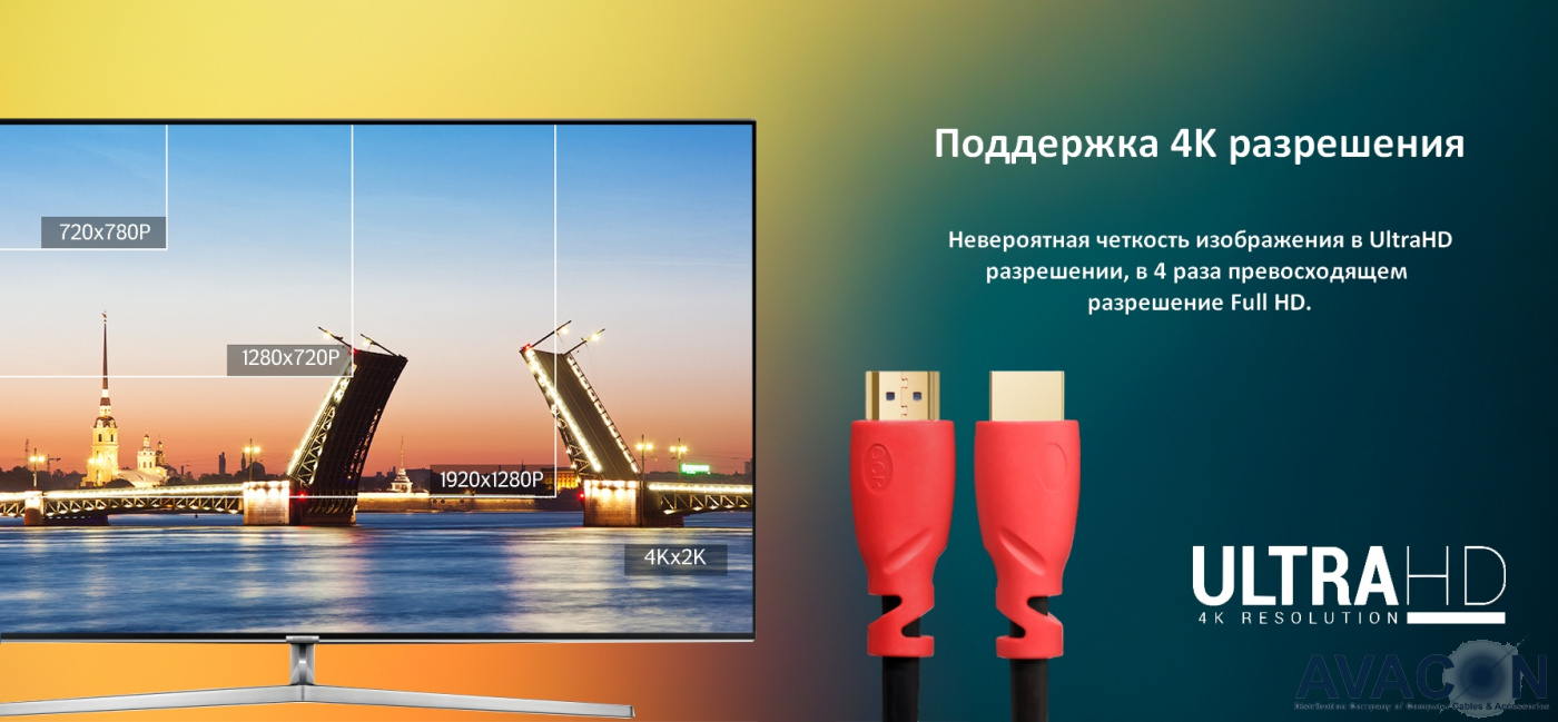 Greenconnect Кабель 2.0m HDMI 2.0, черный, HDR 4:2:2, Ultra HD, 4K 60 fps 60Hz/5K*30Hz, 3D, AUDIO, 18.0 Гбит/с, 28/28 AWG, 3 X экран