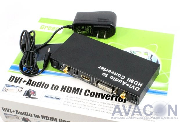 Мультимедиа professional конвертер DVI + Audio -> HDMI Greenconnect